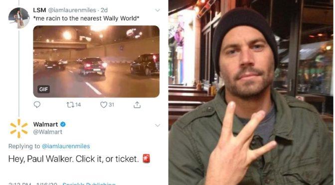 Walmart Tweets Insensitive Joke About Paul Walker